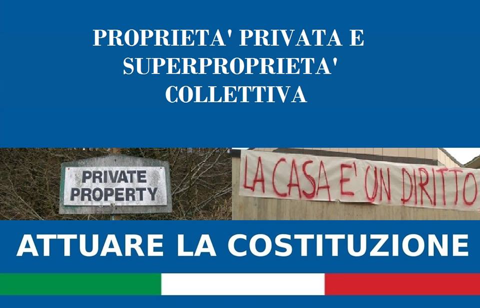 PROPRIETA' PRIVATA E SUPERPROPRIETA' COLLETTIVA